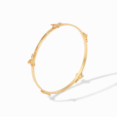 Julie Vos Julie Vos - Bee Bangle Gold Cubic Zirconia - Medium available at The Good Life Boutique