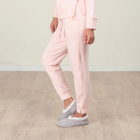 Faceplant Bamboo Frida Jogger Pant - Blush Pink - side