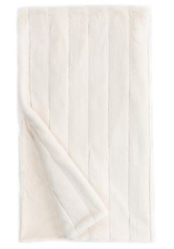"Mink Posh Faux Fur Throw in Ivory 60"" X 72"""
