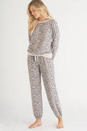 Honeydew Star Seeker Lounge Set - Natural Leopard available at The Good Life Boutique