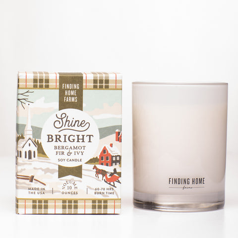 Finding Home Farms Shine Bright Soy Candle Collection - Boxed Candle - 10 oz available at The Good Life Boutique