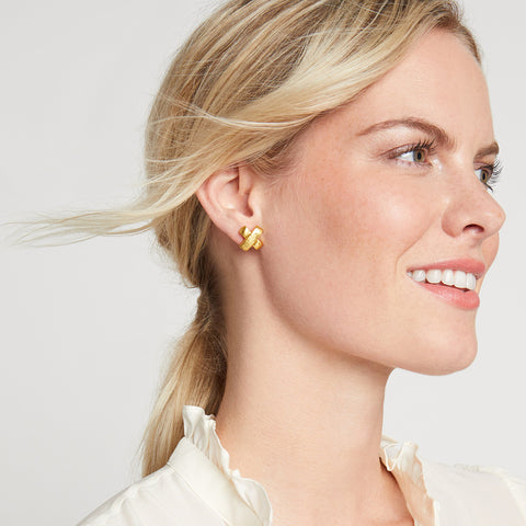 Julie Vos Julie Vos - Catalina X Stud Gold available at The Good Life Boutique