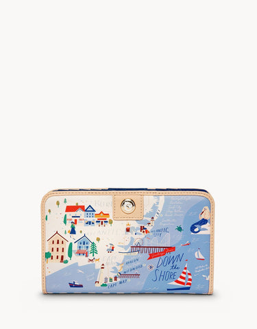 Down The Shore Snap Wallet