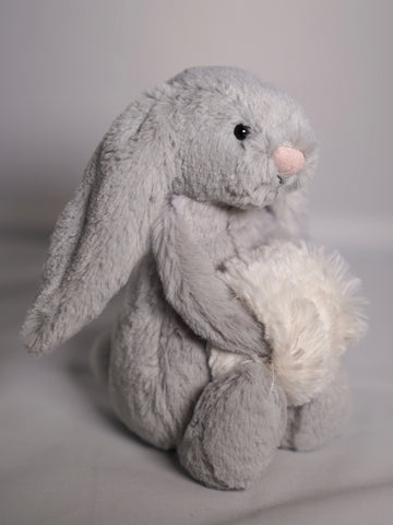 Jellycat Inc Bashful Grey Bunny Small available at The Good Life Boutique