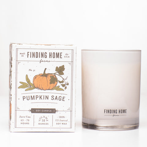 Finding Home Farms Pumpkin Sage Soy Candles - Boxed Candle - 10 oz available at The Good Life Boutique