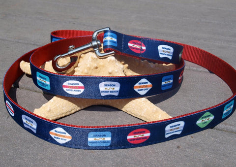 Be Ribbon LBI Beach Badge Leashes - Navy available at The Good Life Boutique
