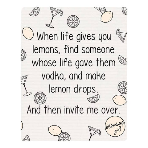 When Life Gives You Lemons Swedish Dishcloth