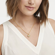 Julie Vos Julie Vos Fleur-de-Lis Solitare Necklace Gold available at The Good Life Boutique