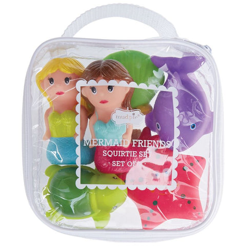 Mud Pie Mermaid Rubber Bath Toys available at The Good Life Boutique