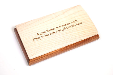 Mikutowski Woodworking Inspirational Box - Maple Lid - Grandfather available at The Good Life Boutique