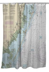 Island Girl Home, INC. LBI, NJ Nautical Chart, Shower Curtain available at The Good Life Boutique