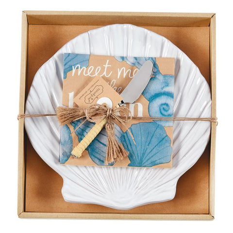 SHELL PLATE CHEESE SET