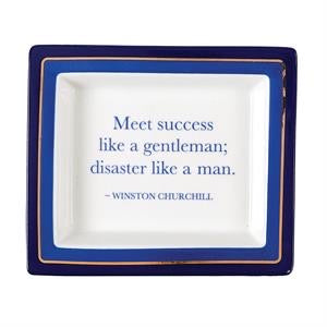 Winston Churchhill Wise Saying Trays in Gift Box Porcelain