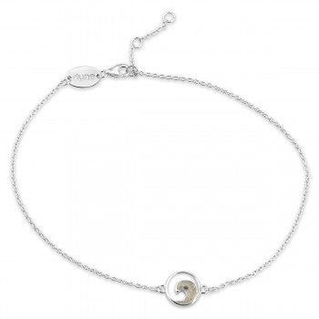 Delicate Destinations Wave Anklet With LBI Sand