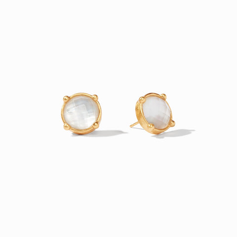 Julie Vos - Honey Stud Gold Iridescent Clear Crystal