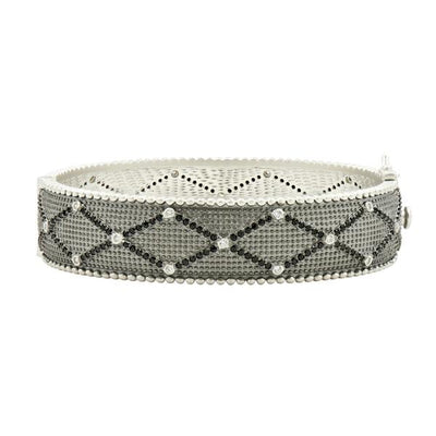 Freida Rothman - Industrial Finish Textured Hinged Bangle