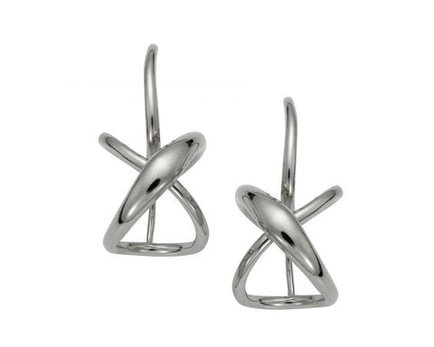 e.l. Levin (formerly Ed Levin) - Secret Heart Earrings Sterling Silver Small