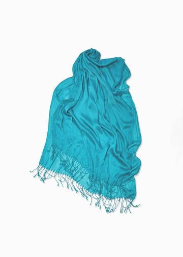 Solid Scrunch Scarf - Turquoise