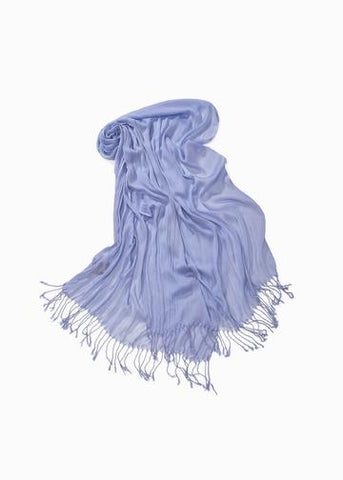 Look By M Solid Scrunch Scarf - Periwinkle available at The Good Life Boutique