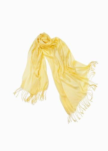 Solid Scrunch Scarf - Yellow