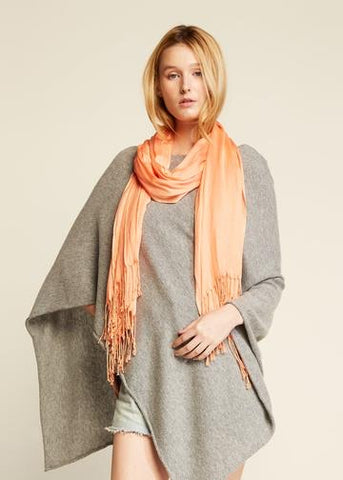 Look By M Solid Scrunch Scarf - Orange available at The Good Life Boutique
