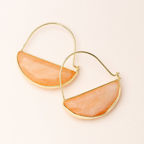 Scout Curated Wears Stone Prism Hoop - Sunstone/Gold available at The Good Life Boutique