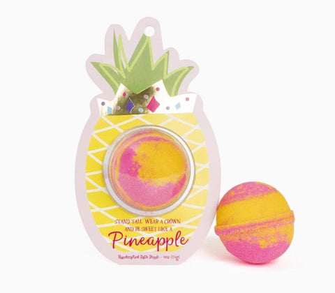 Cait & Co Sweet like a Pineapple Bath Bomb Clamshell available at The Good Life Boutique