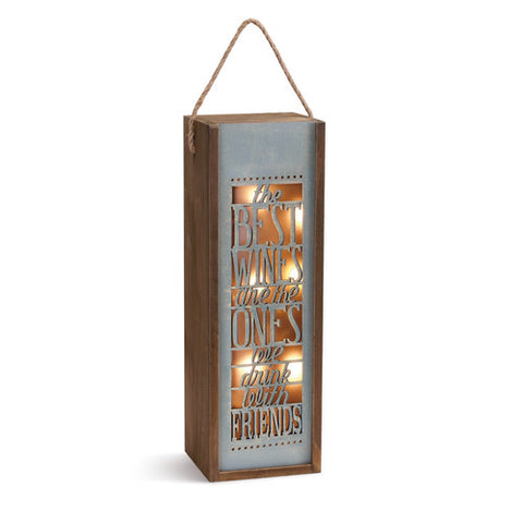 Demdaco The Best Wines Lantern available at The Good Life Boutique