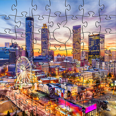 Zen Art & Design Zen Teaser Wooden Jigsaw Puzzle Downtown Atlanta available at The Good Life Boutique