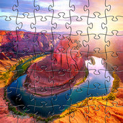 Zen Art & Design Zen Teaser Wooden Jigsaw Puzzle Horseshoe Bend River available at The Good Life Boutique