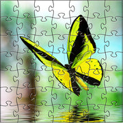 Zen Art & Design Zen Teaser Wooden Jigsaw Puzzle Yellow Butterfly available at The Good Life Boutique