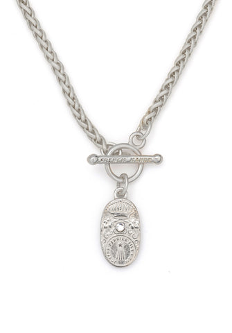 French Kande Cuvee Cheval Necklace Silver available at The Good Life Boutique