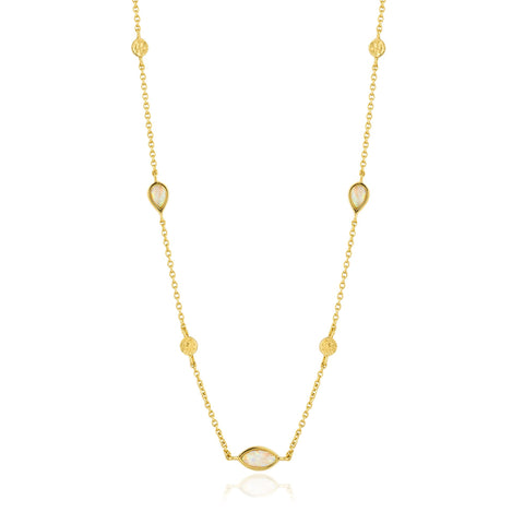 ANIA HAIE Opal Color Gold Necklace available at The Good Life Boutique