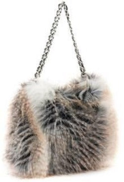 Fabulous Furs Faux Fur Hobo Handbag Cross Fox available at The Good Life Boutique
