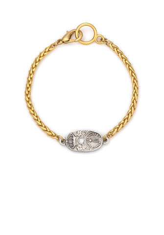French Kande Patina Cuvee Cheval Bracelet Gold available at The Good Life Boutique