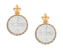 French Kande La Rochelle Earrings Gold Mixed Metals available at The Good Life Boutique
