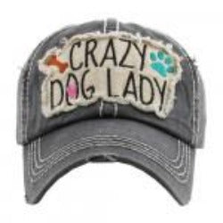 Crazy Dog Lady Hat - Gray