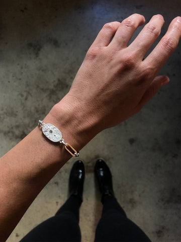 French Kande Versailles Cuvee Bracelet Silver available at The Good Life Boutique