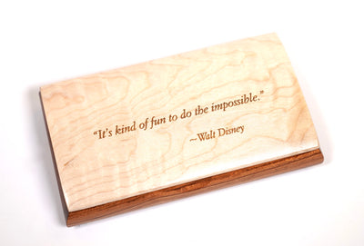 Inspirational Box - Maple Lid - Disney