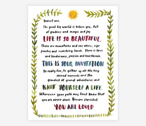 Little Truths Studio - Dearest One Print
