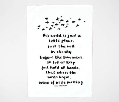 LTS-Emily Dickinson-Tea-Towel
