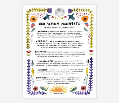 Little Truths Studio - Family Manifesto Print