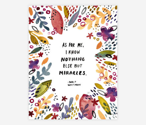 Little Truths Studio - Nothing But Miracles Print