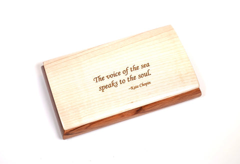 Inspirational Box - Maple Lid - Kate Chopin