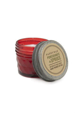Paddywax Relish Jar 3 oz Red - Pomegranate & Spruce