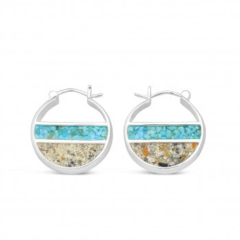 Dune Jewelry Shoreline Double Sided Hoops - LBI available at The Good Life Boutique