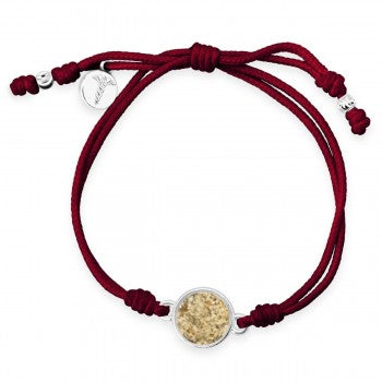 TTW - Maroon Staff of Hermes Bracelet With LBI Sand - Humanitarian Medical Care