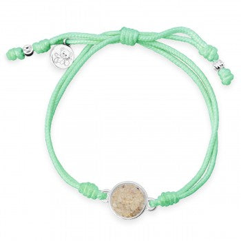 TTW - Mint Green Teddy Bear Bracelet With LBI Sand - Childhood Cancer Care & Research