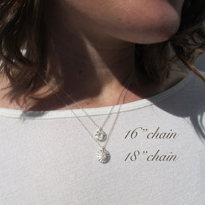 Barnacle imprinted necklace from Kin Beach, Vancouver Island - Swallow Jewellery