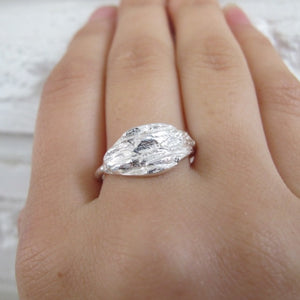Douglas Fir tree bark imprinted ring from Victoria, BC - Swallow Jewellery